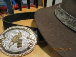 elkhorn buckle, hat hasselstrom